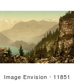 #11851 Picture Of Lake Lucerne And Mount Pilatus