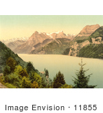#11855 Picture Of Urnersee And Urirotstock Mountain On Lake Lucerne