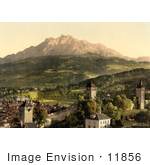 #11856 Picture Of Pilatus As Seen From Lucerne