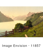 #11857 Picture Of A Home On The Shore Of Lake Lucerne