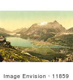 #11859 Picture Of An Agricultural Lakefront Valley Switzerland