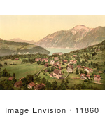 #11860 Picture Of Morschach And Axenstein On Lake Lucerne In Switzerland