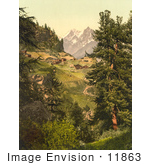 #11863 Picture Of Zmutt Valley With Mischabelhorner Group Switzerland