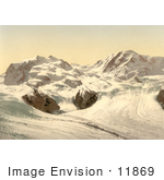 #11869 Picture Of Monte Rosa And Gorner Glacier In Switzerland