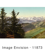 #11873 Picture Of A Distant View Of Mount Titlis Switzerland