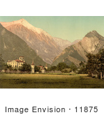 #11875 Picture Of The Chateau De Werra In Switzerland