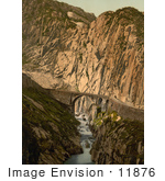 #11876 Picture Of Devil'S Bridge In Switzerland
