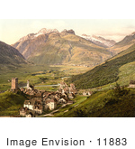 #11883 Picture Of The Village Of Hospenthal Near Furka Pass Switzerland