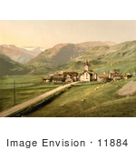 #11884 Picture Of The Village Of Of Realp Near Furka Pass Switzerland