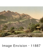 #11887 Picture Of A Garden At Brunig Spring House Switzerland