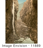 #11889 Picture Of A Waterfall In A Grotto Grindelwald Bernese Oberland