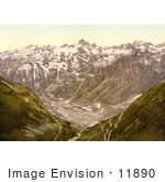 #11890 Picture Of Furka Pass In The Swiss Alps Switzerland