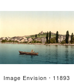 #11893 Picture Of A Boat On Geneva Lake At Clarens
