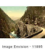 #11895 Picture Of A Road Along The Landwasser River