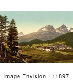 #11897 Picture Of St Moritz In Engadine Grisons Switzerland