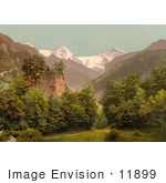 #11899 Picture Of Unspunnen Castle Ruins Interlaken Switzerland