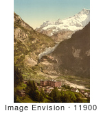 #11900 Picture Of Eiger Glacier And Bear Hotel In Switzerland