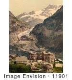 #11901 Picture Of Bear Hotel And Eiger Glacier Switzerland
