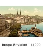 #11902 Picture Of A View Of The Quay In Lucerne Switzerland