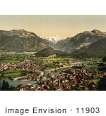 #11903 Picture Of A View Of Interlaken And The Aare River