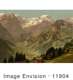 #11904 Picture Of A View Of Selbsanft Piz Urlu And Todi Mountains Glarus Switzer