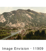 #11909 Picture Of The Village Of Interlaken Switzerland