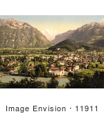 #11911 Picture Of The Aare River Running Through Interlaken