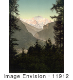 #11912 Picture Of Jungfrau Mountain And Interlaken Switzerland
