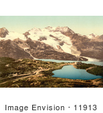 #11913 Picture Of Bernina Hospice And Cambrena Glacier Switzerland