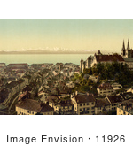 #11926 Picture Of The City Of Neuchatel Switzerland