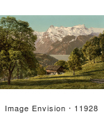 #11928 Picture Of A House Near Lake Lucerne Switzerland