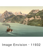 #11932 Picture Of A Boat On Lake Lucerne Switzerland