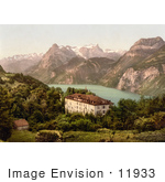 #11933 Picture Of A Hotel Near Lake Lucerne Switzerland