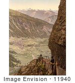 #11940 Picture Of A Man At A Viewpoint Switzerland