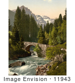 #11943 Picture Of Moulins Bridge And Dent Du Midi Switzerland