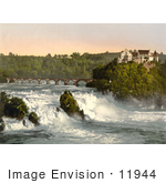 #11944 Picture Of Rhine Falls And Laufen Castle In Switzerland