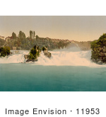 #11953 Picture Of Rhine Falls As Seen From Schlossli