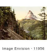 #11956 Picture Of Gornergrat Railway Tunnel And Matterhorn Switzerland