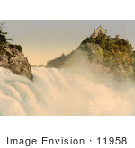 #11958 Picture Of Low View Of Laufen Castle And Rhine Falls