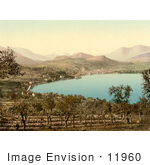 #11960 Picture Of The Town Of Lugano And Lake Switzerland