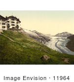 #11964 Picture Of Belalp Hotel And Aletsch Glacier Switzerland