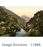 #11968 Picture Of St Maurice Switzerland