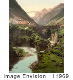 #11969 Picture Of Goschenen And The Damma Glacier Switzerland
