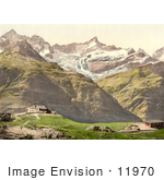 #11970 Picture Of Riffelberg Hotel And Train Station Valais