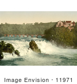 #11971 Picture Of Rhine Falls And Laufen Castle Switzerland