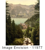 #11977 Picture Of Hotel Giessbach And Brienz Lake Switzerland
