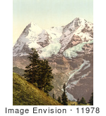 #11978 Picture Of Eiger And Monch Mountains In The Swiss Alps