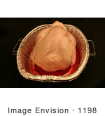 #1198 Photography Of A Uncooked Thanksgiving Turkey