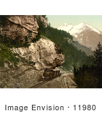 #11980 Picture Of A Railway Car Heading Uphill Bernese Oberland Switzerland
