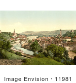 #11981 Picture Of A Town Of Aargau In Switzerland